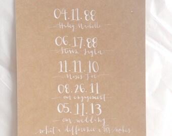 special dates// custom 8x10