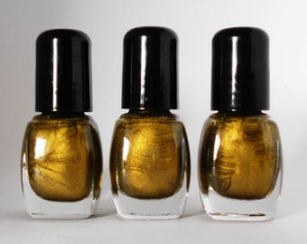 GOLD Nail Polish Epic Vintage Gold Vegan nails  free from harsh chemicals indie nail polish mini bottle shiny glossy manicure