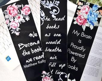 Bookmark black quotes