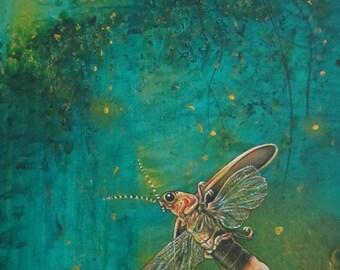 Firefly Ceramic Tile, Night Light from Afar
