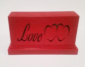 Twin Hearts Sign, Romantic Decor, Love Sign, Twin Hearts, Valentine Decoration, Valentines Lamp, Twin Hearts, Love Lamp, Valentines Decor