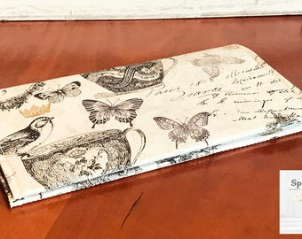 Checkbook cover coupon holder Paris French Handmade Farmhouse chic -ready to ship