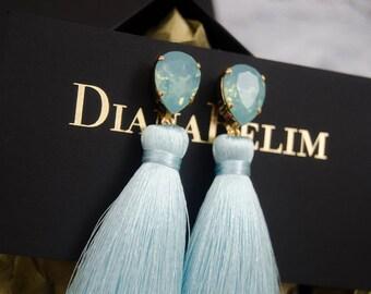 FREE SHIPPING Worldwide Statement Earrings Swarovski Earrings, Large Earrings, Tassel Earrings, Chandelier Earrings