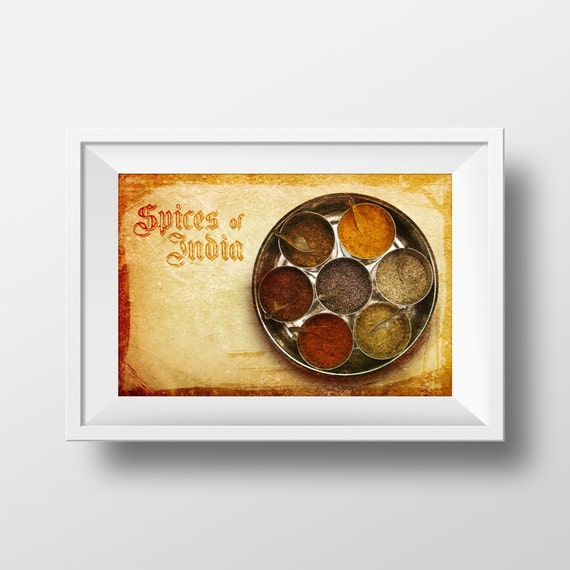 kitchen wall art Food photography instant download Spices of