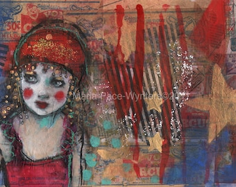 ACEO Circus Girl-  Open edition reproduction by Maria Pace-Wynters