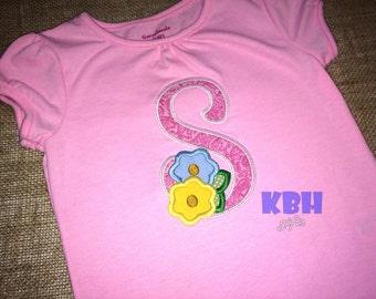 Embroidered Girl Monogram Shirt