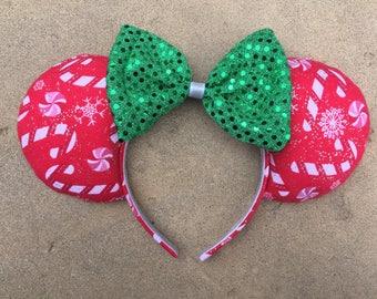 Christmas Candy Cane Ears