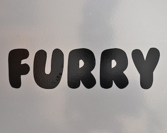 Window Decal, Furry, ST-039a