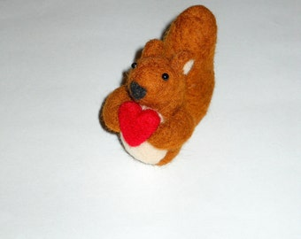 Felted Squirrel - Red Squirrel - Needle Felted Animal