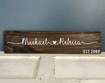 Couples Name Custom Wood Sign