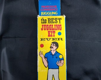 The Best Juggling Kit Ever 1985 JUGGLEBUG Endorsed by Professor Confidence