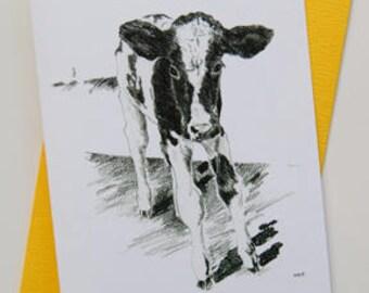 Calf - Dog Note Card Set