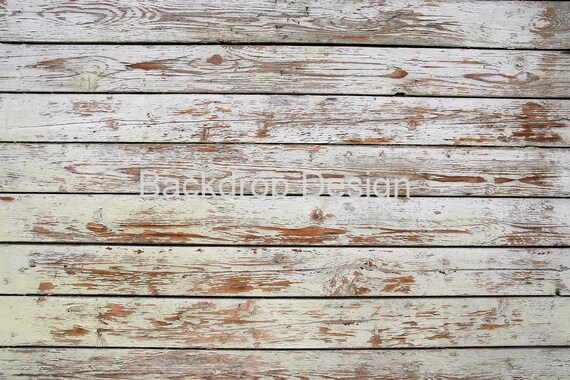 Distressed White Wood Backdrop Peeled Vintage Planks Old Painted