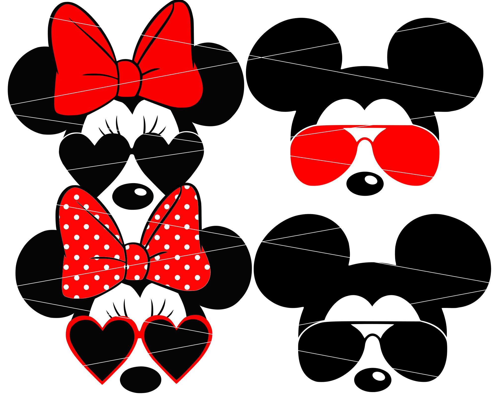 Minnie Mouse svg Minnie sunglasses svg Disney svg Mickey mouse