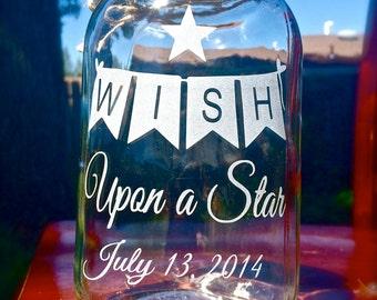 1 Mason Jar, WISH Banner, Quart Mason Jar
