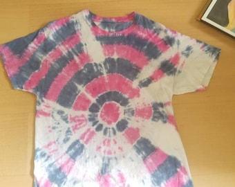 Bullseye pink and navy tie dye
