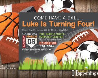 Sports birthday invitation sport party invite sports sports birthday invitation sports invitation ball birthday invite sports party soccer birthday baseball digital file busy filmwisefo Image collections