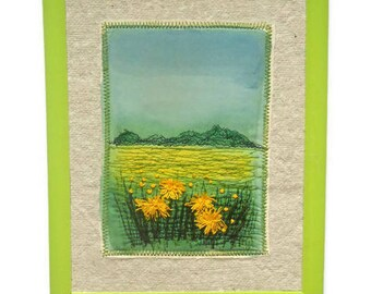 Framed picture Wall hanging Textile Art  Embroidery painting Homeware decoration gift for her