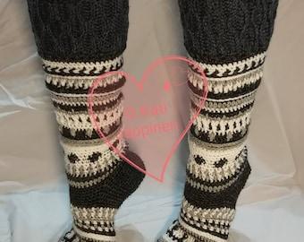 Polar Night - Crocheted socks, PDF PATTERN