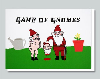 Funny Birthday Card, Birthday Cards, Birthday Card For Him, Boyfriend Birthday Card, Friend Birthday Card, Game of Thrones - GAME OF GNOMES