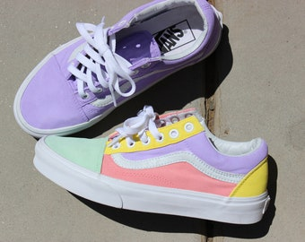 Custom Vans Shoe// Pastel Color Way//