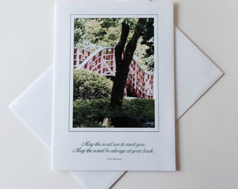 Photo Note Card Rising Bridge Blank Inside Inspirational Quote
