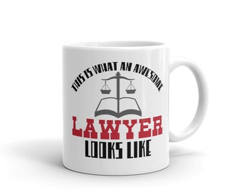 Awesome Lawyer Attorney Coffee Mug Law Student Men Women Gift Mothers Day Fathers Day Christmas Birthday Present