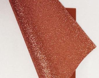 "9.5"" x 12"" Copper Glitter Merino Wool Felt"