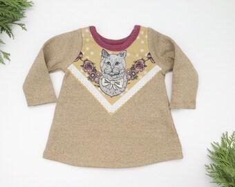 Cat print sweatshirt dress Supayana READY TO SHIP