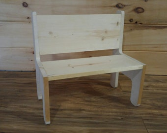 bench classroom market il child montessori toddler furniture childs s wood etsy solid chair
