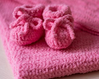 Baby blanket and booties