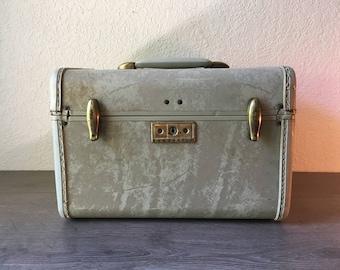 Vintage Train Case, Samsonite Train Case, Vintage Samsonite Luggage, 1950's Train Case, Mid Century Train Case, Samsonite Luggage