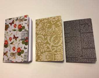 """Traveler's Notebook Inserts Pocket Size """"Butterflies"""""""
