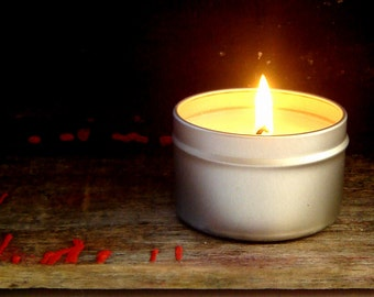 Set of 2 / Soy Candle Tins / Container Candles / Soy Handmade Scented Candles -mothers day gift set