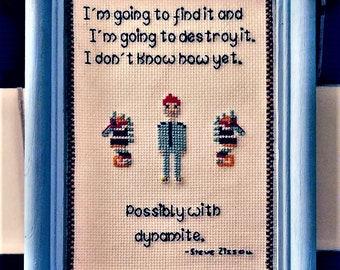 Steve Zissou Cross Stitch Pattern