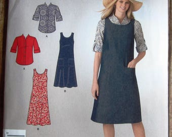 Easy Sew Misses Jumper and Shirt Sizes 10 12 14 16 18 It's So Easy Simplicity Pattern 2129 UNCUT