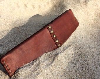 Leather pencil case/ Leather Artist case/ Calf leather case/ Leather tool case