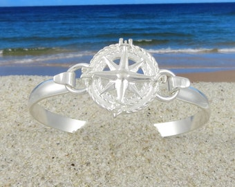Sterling Silver Compass Rose Bracelet