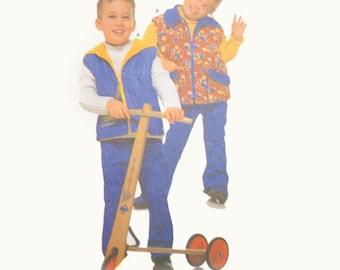Uncut Burda 2912 Sewing Pattern, Boy's Vest Pattern, Collared Vest, Hooded Vest, Sporty Vest, Fall Clothes Spring Clothes Children's Pattern