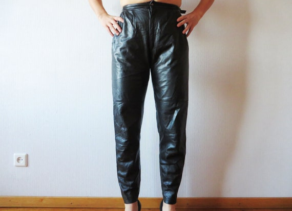 Vintage Biker Leather Pants Genuine Leather Pants Trousers Black Leather Pants Motorcycle Pants Rockstar Leather Fetish Small . QwYq7XKZ