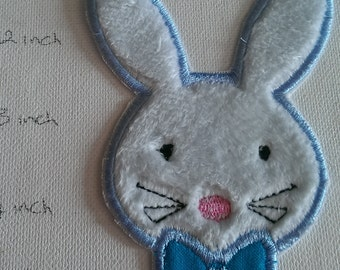 Iron On Patch, Applique, Small bunny, DIY, fluffy bunny, iron on bunny