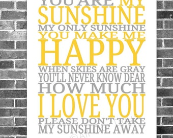 You Are My Sunshine, Word Art, Nursery, Kids Room, Baby Room, Baby Nursery, Nursery Decor, Kids Room Decor, Baby Shower Gift, Baby Decor