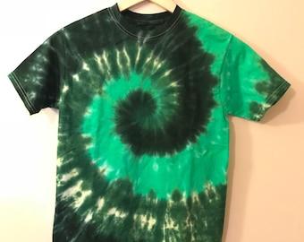 L Tie Dye T-Shirt Boys Green