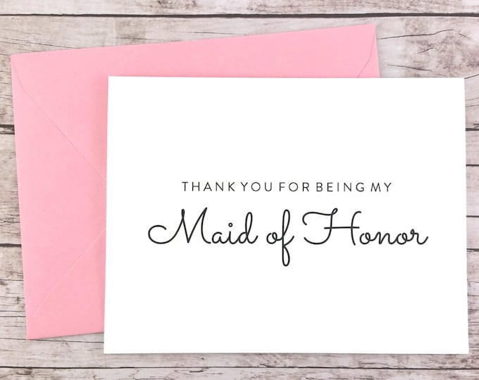 Thank You For Being My Maid of Honor Card (FPS0016)