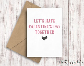 Galentines Day Card, Best Friend Valentines Day Card, Friendship Card, Galentine Card, Anti Valentines Day Card, Funny Valentine for Friend