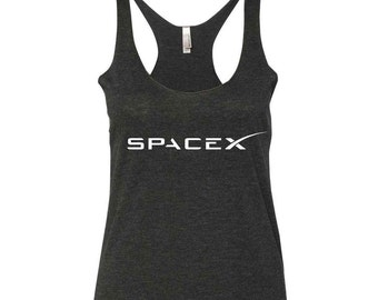 SpaceX Ladies Tri-Blend Racerback Tank Top - NASA - Tesla