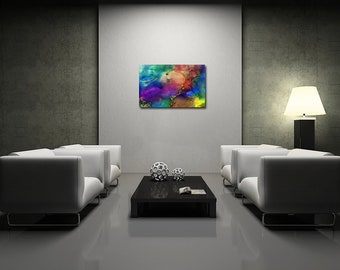 Bold N Beautiful - Original Large Colorful Abstract Painting- FREE SHIPPING -USA