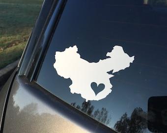 China adoption car decal