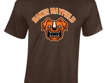 """Brown Cleveland Mayfield """"Mayfield Dawg Pound"""" T-shirt"""