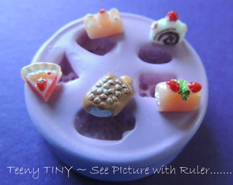 Silicone Mold Teeny Tiny Dollhouse Food Resin Polymer Clay Flexible Molds